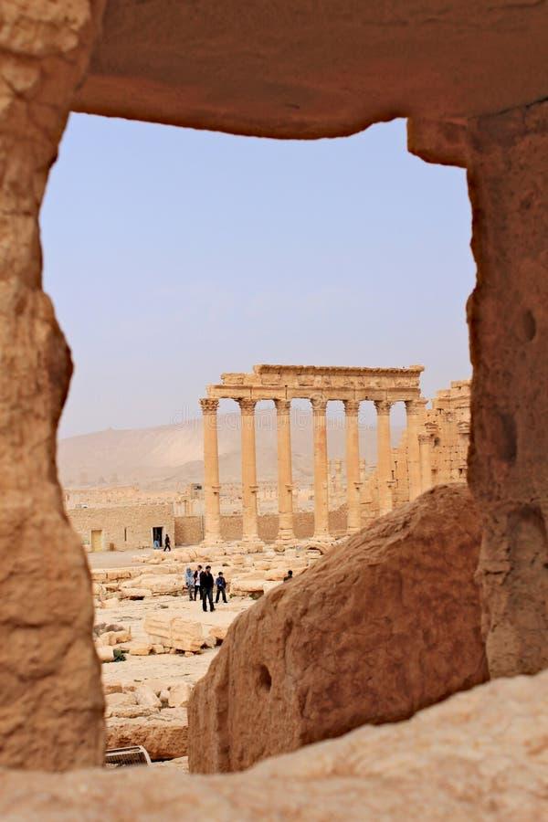 Ruïnes van de oude stad van Palmyra kort voor de oorlog, 2011 royalty-vrije stock afbeeldingen