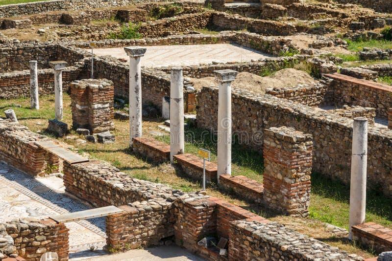 Ruïnes van de oude stad van Heraclea Lyncestis stock foto