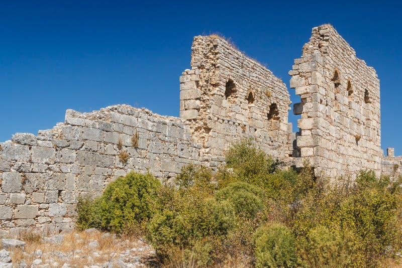 Ruïnes van de oude stad van Kant stock foto