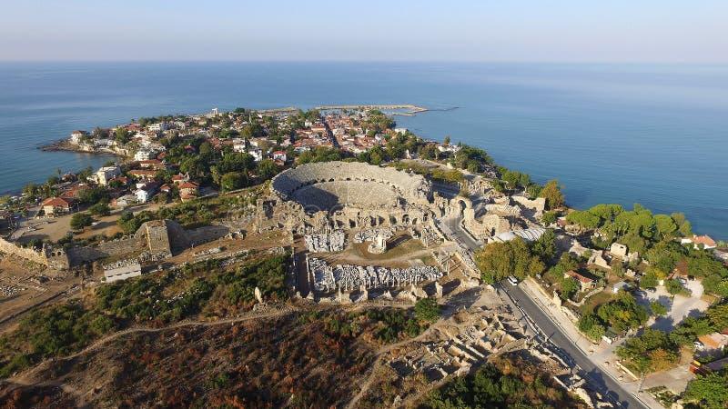 Ruïnes van de oude stad van Kant stock afbeelding