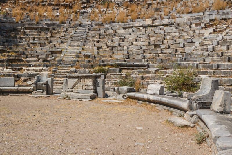 Ruïnes van de oude stad van Priene royalty-vrije stock foto