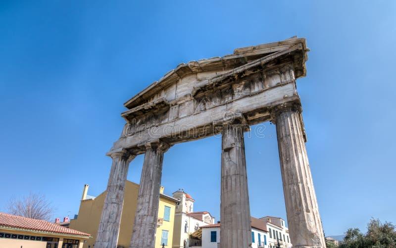 Ruïnes van de Poort van Athena Archegetis stock foto's