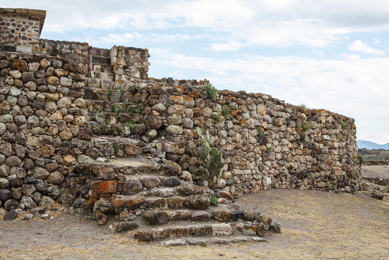 Ruïnes van de pre-Spaanse Zapotec-stad Yagul royalty-vrije stock foto