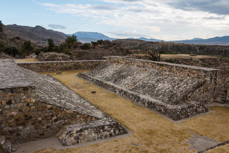 Ruïnes van de pre-Spaanse Zapotec-stad Yagul stock fotografie