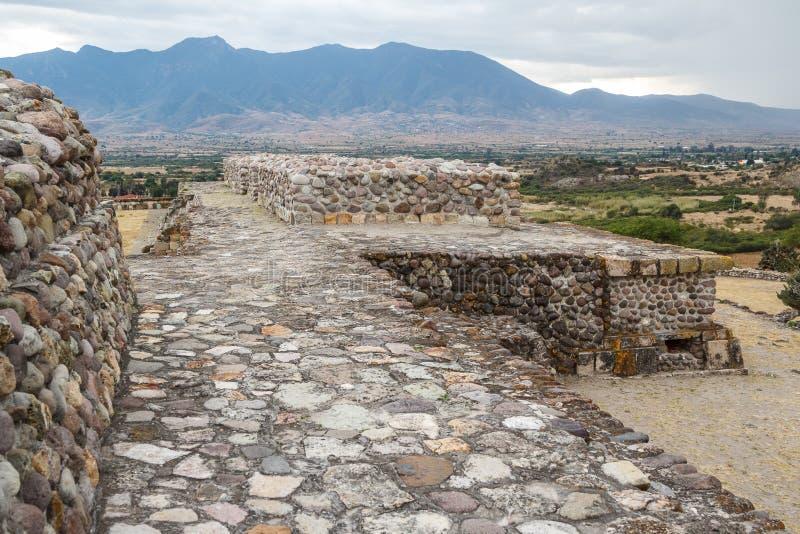 Ruïnes van de pre-Spaanse Zapotec-stad Yagul stock afbeeldingen