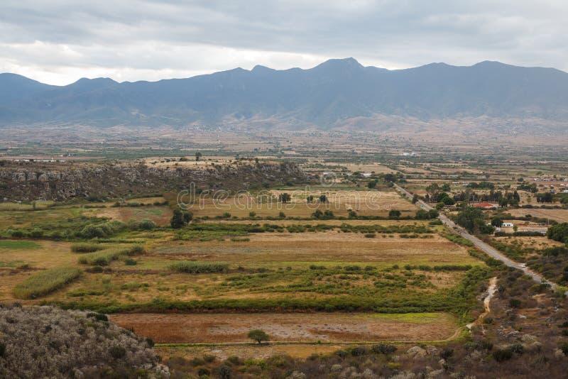 Ruïnes van de pre-Spaanse Zapotec-stad Yagul, Puebla royalty-vrije stock foto's
