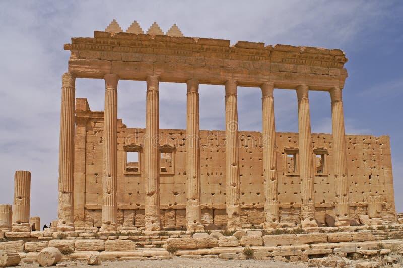 Ruïnes van de Tempel van Ba'al in Palmyra, Syrië stock afbeeldingen