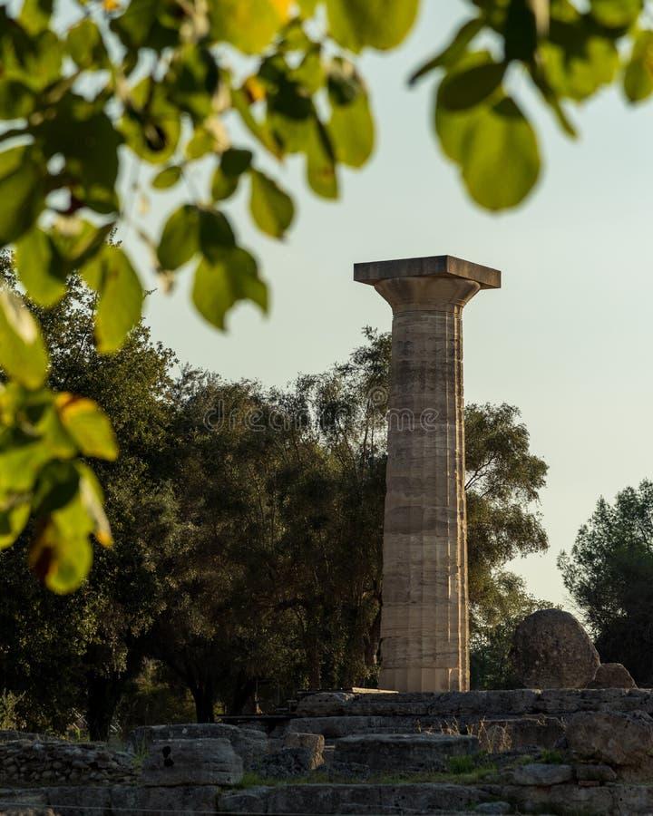 Ruïnes van de Tempel van Zeus, Olympia stock afbeeldingen