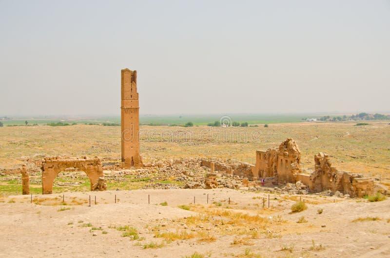 Ruïnes van de Universiteit in Harran, Turkije stock afbeelding