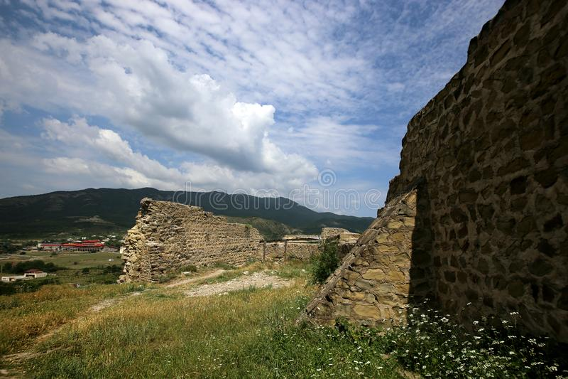 Ruïnes van de vesting van Bebriscic van de IX eeuw iver royalty-vrije stock foto