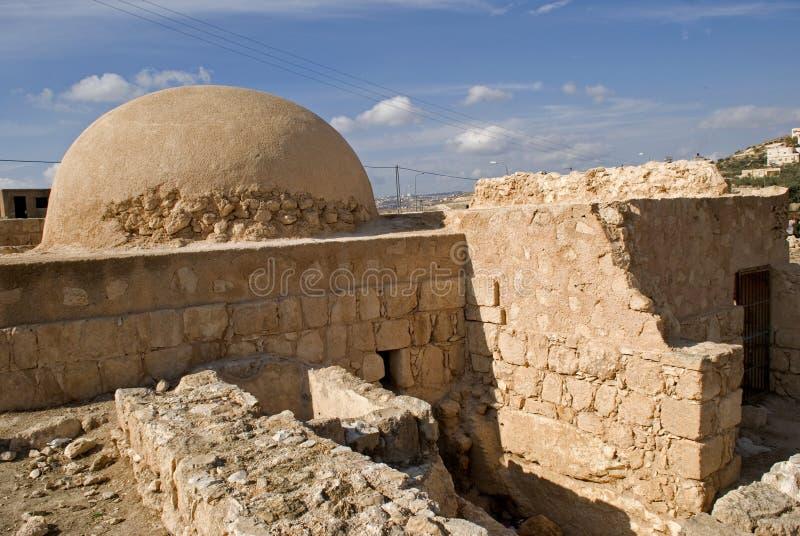 Ruïnes van de vesting van Herod, Groot, Herodium, Palestina stock afbeelding