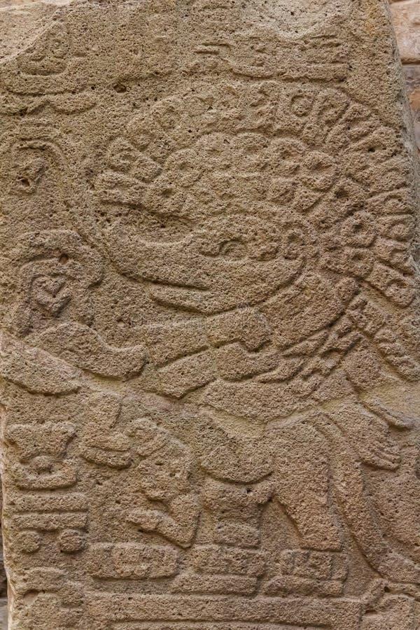 Ruïnes van de zapotec pre-Spaanse stad Monte Alban, Oaxaca royalty-vrije stock foto's