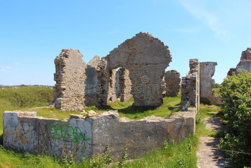 Ruïnes van een huis stock foto's