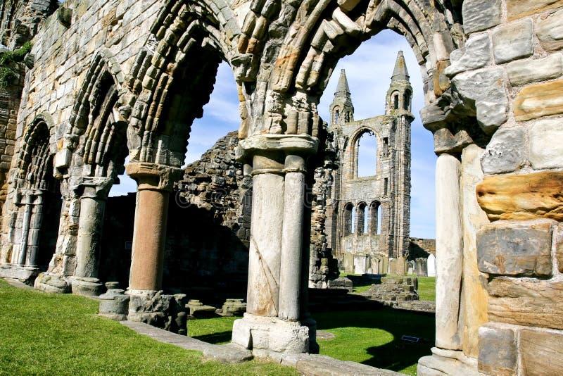 Ruïnes van een kerk royalty-vrije stock afbeelding