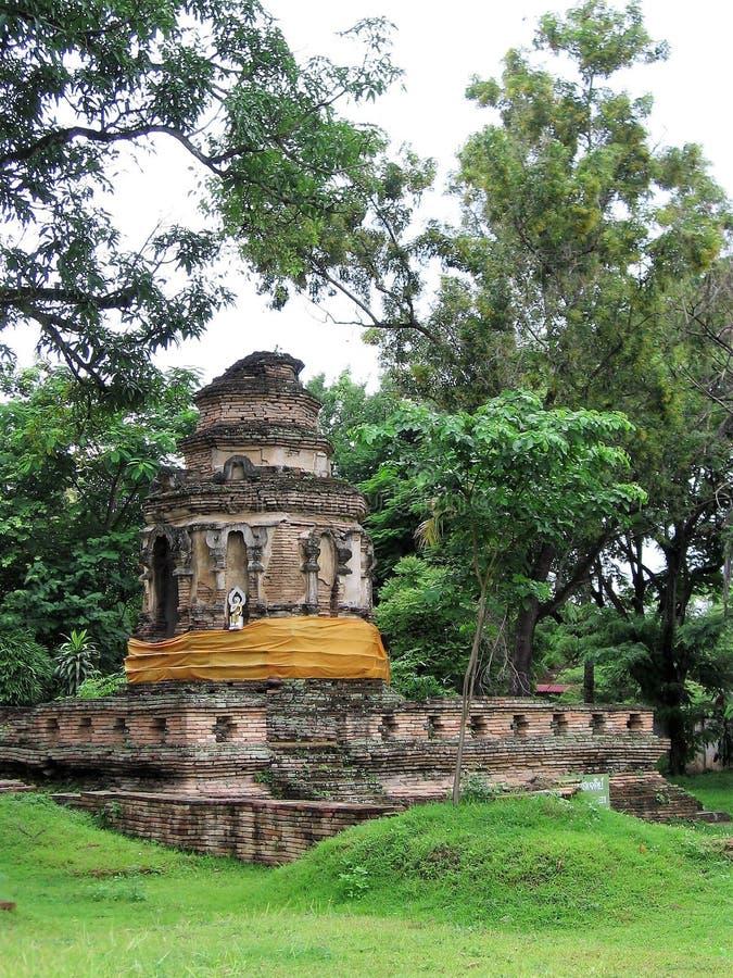 Ruïnes van een Stupa in Ayuttaya, Thailand royalty-vrije stock foto's