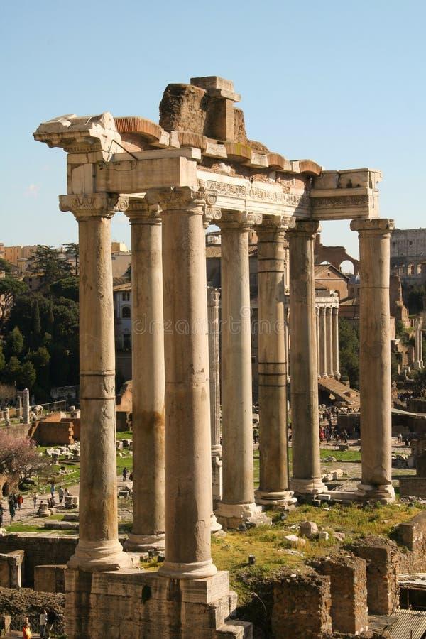 Ruïnes van een tempel stock foto's