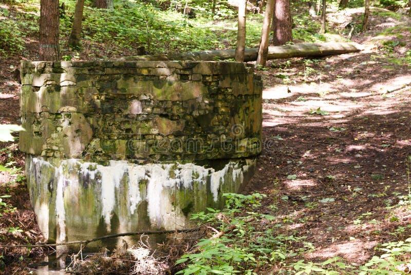 Ruïnes van elektrische centrale van Wereldoorlog II stock afbeeldingen