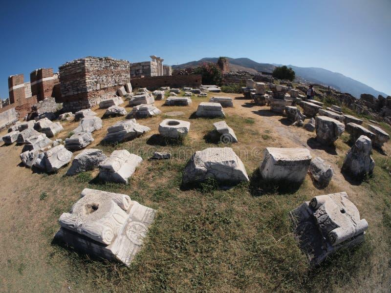 Ruïnes van Ephesus Turkije royalty-vrije stock foto