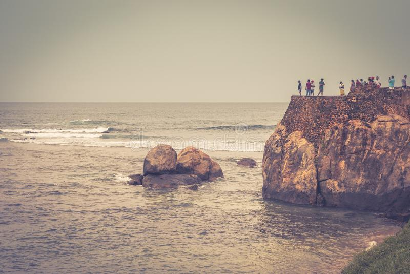 Ruïnes van Galle-Fort in Sri Lanka stock afbeelding