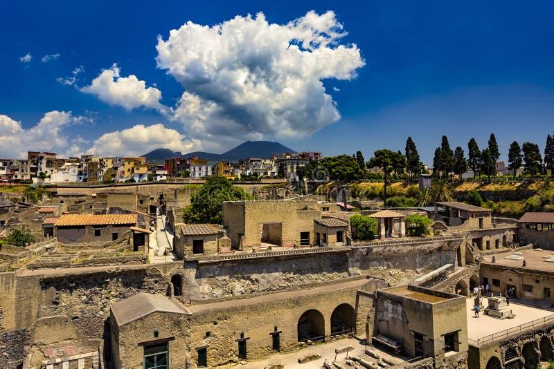 Ruïnes van Herculaneum, Italië royalty-vrije stock foto