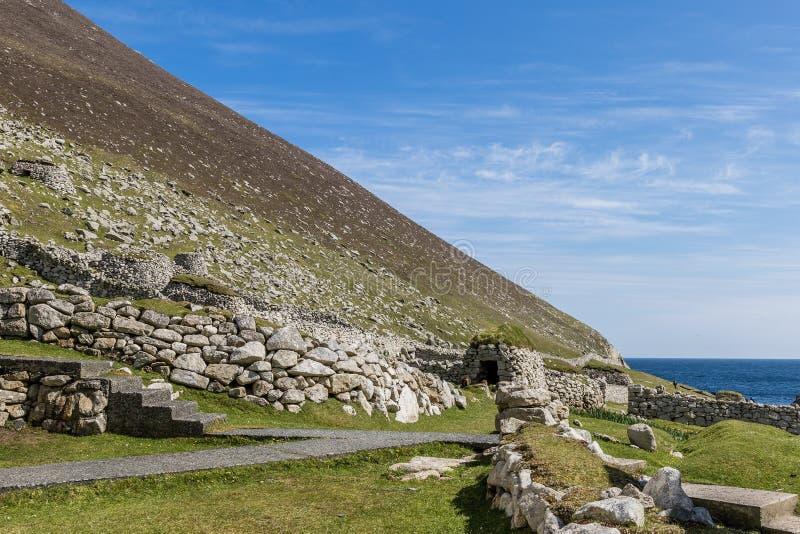 Ruïnes van het dorp royalty-vrije stock foto's