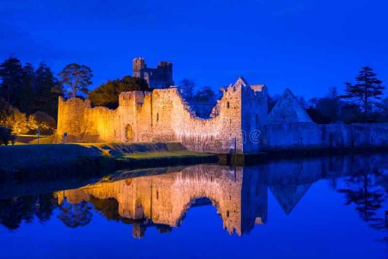 Ruïnes van het kasteel in Adare royalty-vrije stock afbeeldingen