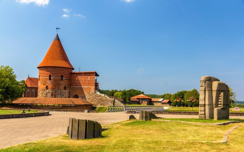 Ruïnes van het Kasteel in Kaunas royalty-vrije stock fotografie