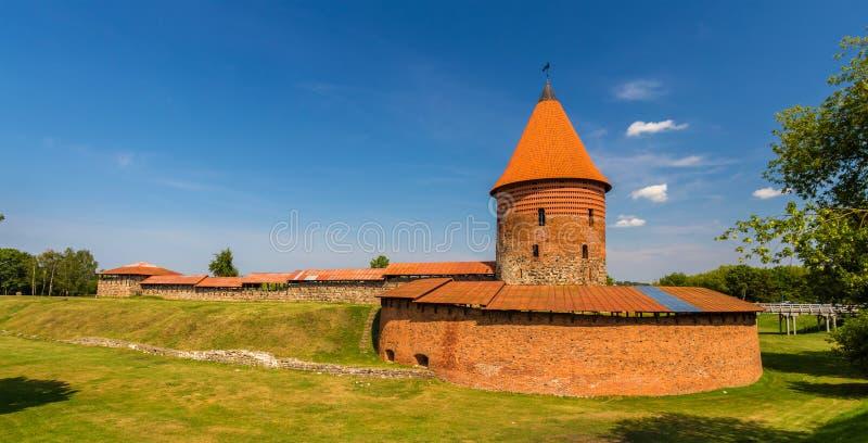 Ruïnes van het Kasteel in Kaunas royalty-vrije stock afbeelding