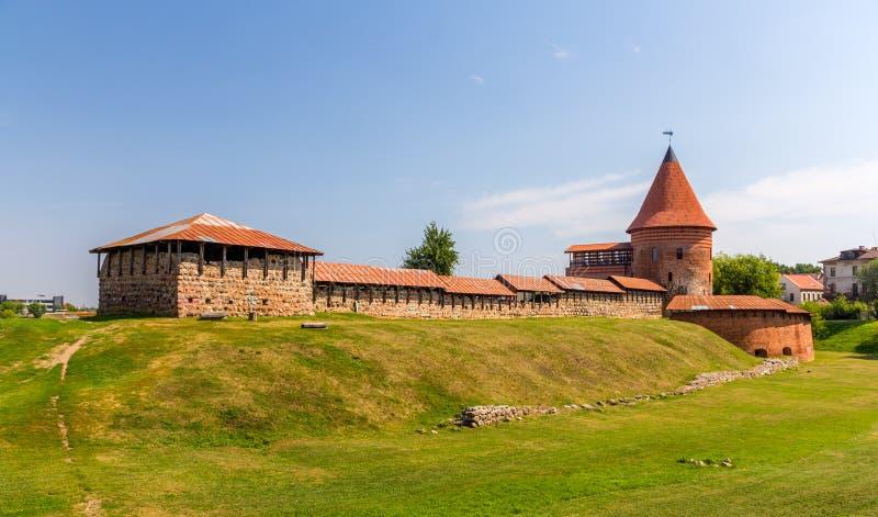 Ruïnes van het Kasteel in Kaunas stock afbeeldingen