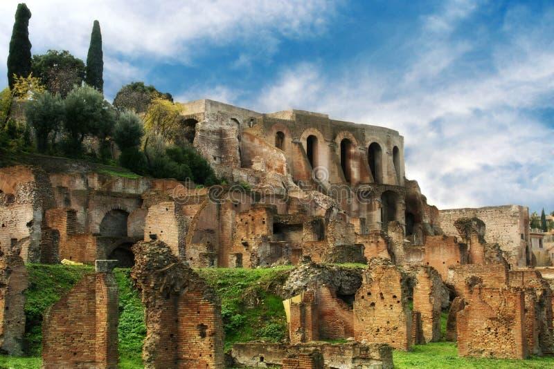 Ruïnes van het Roman Forum, Rome, Italië royalty-vrije stock afbeelding