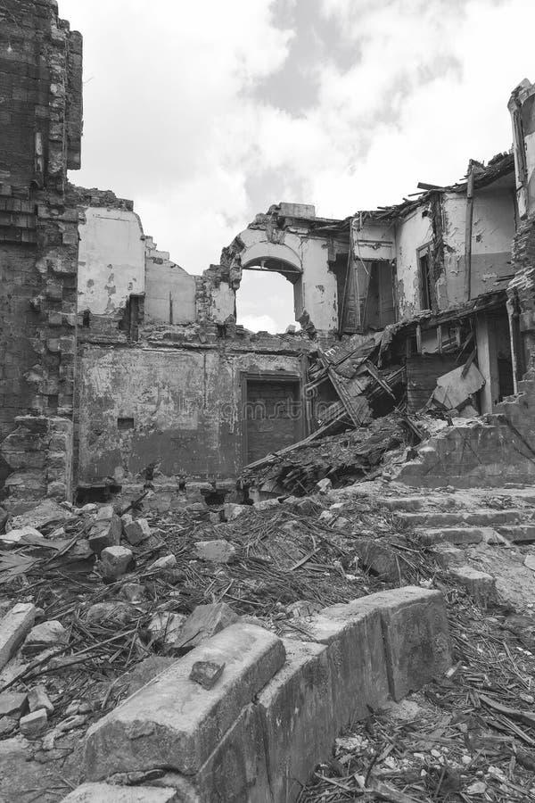 Ruïnes van historisch historisch huis van Massons Geruïneerd Huis oud h royalty-vrije stock afbeeldingen