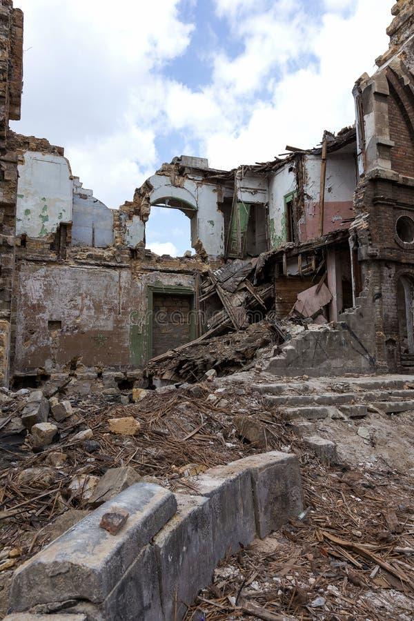 Ruïnes van historisch historisch huis van Massons Geruïneerd Huis oud h stock afbeeldingen