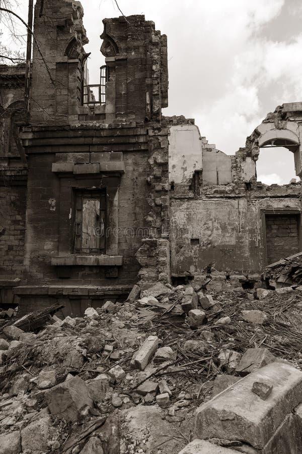 Ruïnes van historisch historisch huis van Massons Geruïneerd Huis oud h royalty-vrije stock foto's