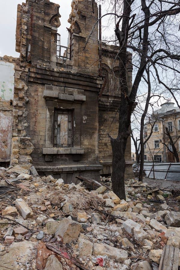 Ruïnes van historisch historisch huis van Massons Geruïneerd Huis oud h stock foto's