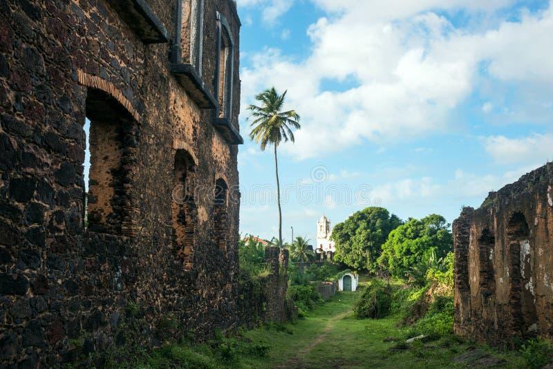 Ruïnes van Historische stad van Alcantara, Brazilië stock afbeelding
