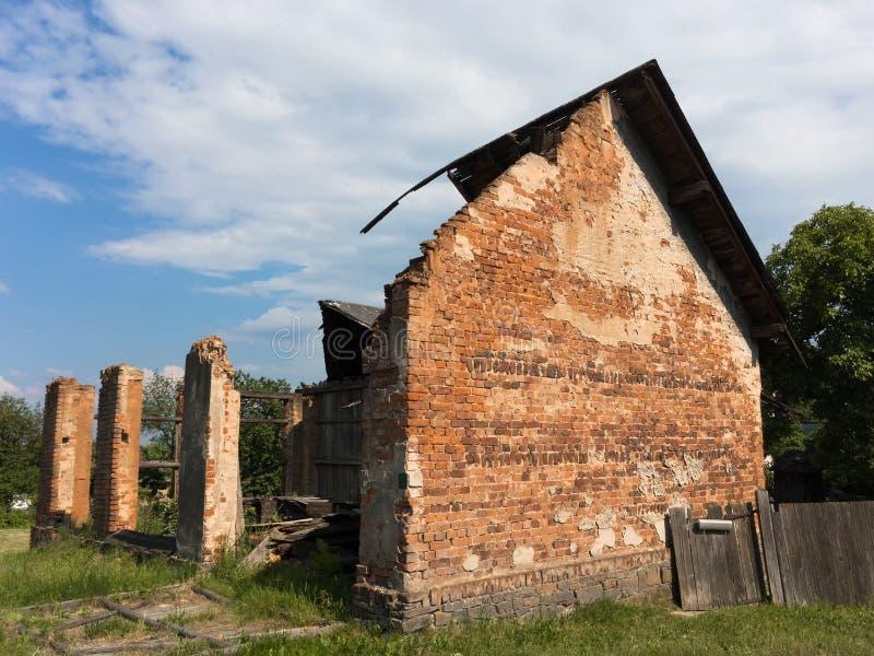 Ruïnes van huis stock foto