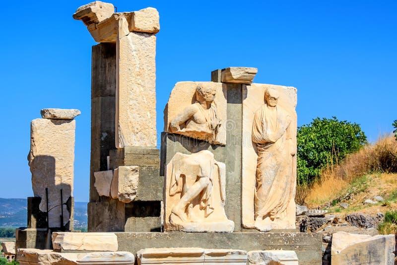 Ruïnes van hulp in oude stad van Ephesus royalty-vrije stock fotografie