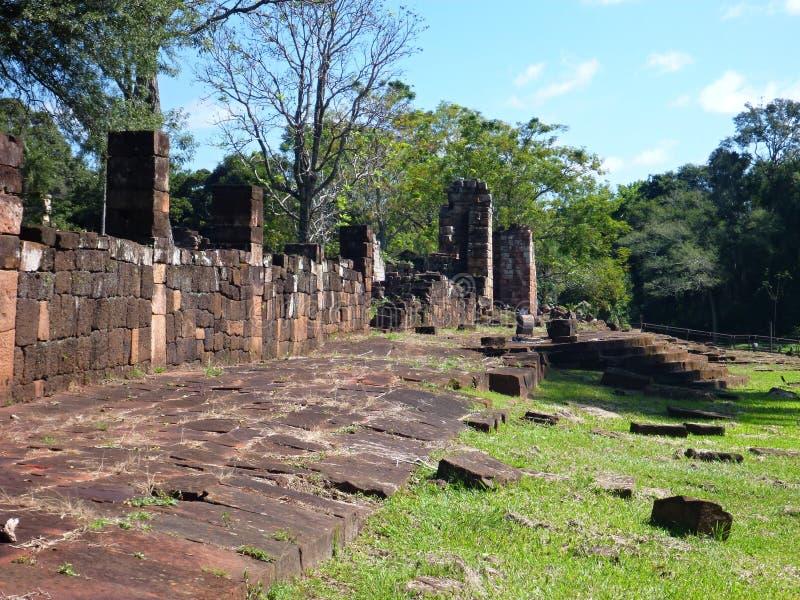 Ruïnes van jesuitopdrachten in Argentinië stock foto's