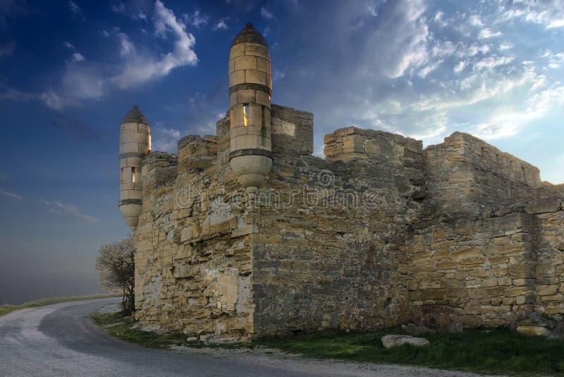 Ruïnes van kasteel royalty-vrije stock foto
