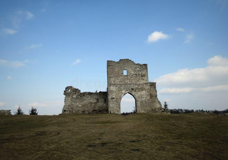 Ruïnes van kasteel royalty-vrije stock foto's