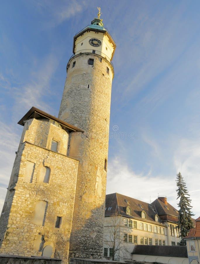 Ruïnes van kasteel Neideck; Arnstadt, Duitsland stock afbeeldingen