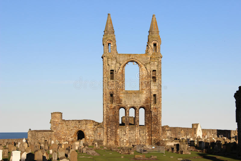 Ruïnes van Kathedraal van St Andrew, St Andrews, Fife stock fotografie