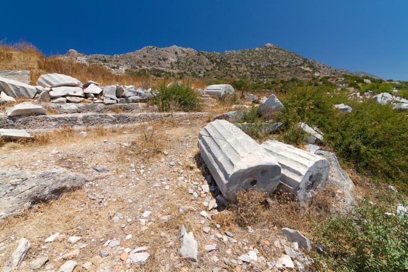 Ruïnes van Knidos royalty-vrije stock afbeeldingen