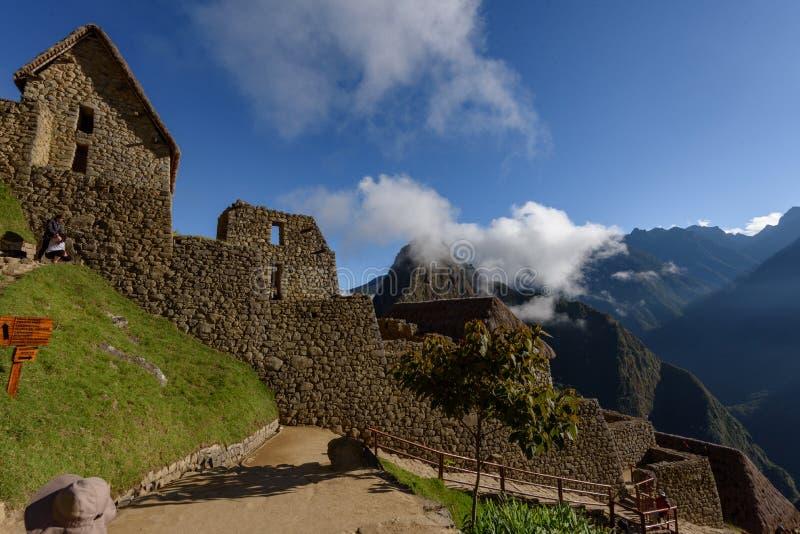 Ruïnes van Machu Picchu op Helder Sunny Day stock afbeelding