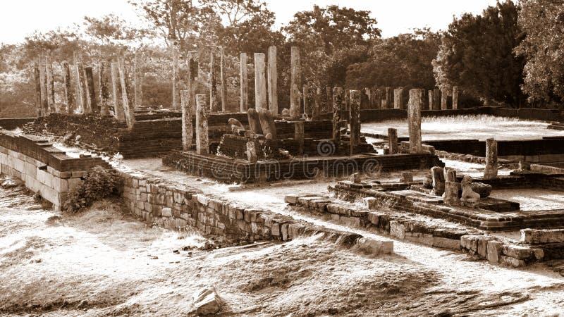 Ruïnes van Medirigiriya Vatadageya, Sri Lanka royalty-vrije stock foto