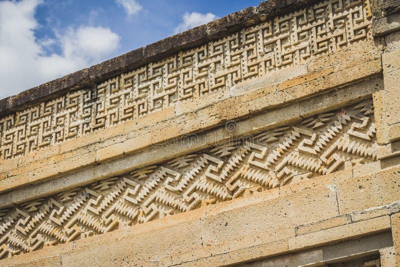 Ruïnes van Mitla in Oaxaca Mexico stock afbeelding