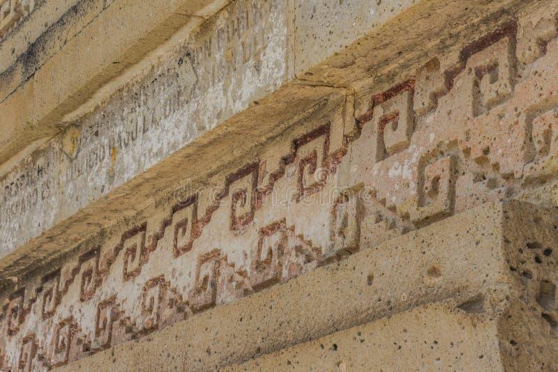 Ruïnes van Mitla in Oaxaca Mexico stock afbeeldingen