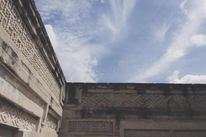 Ruïnes van Mitla in Oaxaca Mexico royalty-vrije stock afbeelding