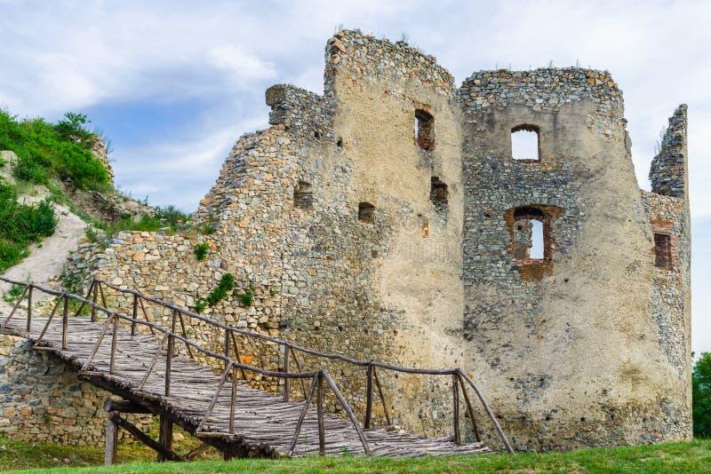 Ruïnes van Oponice-kasteel, Slowakije stock fotografie