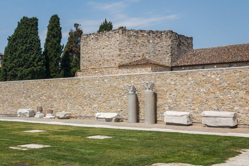 Ruïnes van oude Aquileia royalty-vrije stock afbeelding